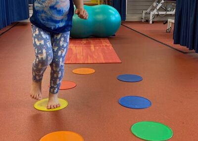 Fun physio in DCD, dyspraxia improving strength and dynamic balance.