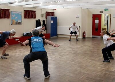 Improving fitness and slowing progression through physiotherapy exercises in Parkinson's class