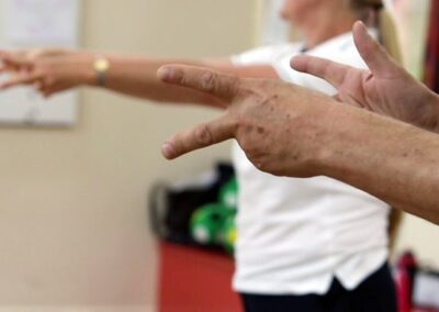 Improving hand function through physiotherapy exercises for someone with stiff hands in Parkinson's Disease