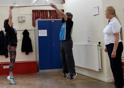 improving posture through physiotherapy exercises for someone with Parkinson's Disease