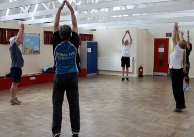 Improving stooping and improving posture through physiotherapy exercises for someone with Parkinson's Disease